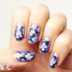 Layered Purple Flowers