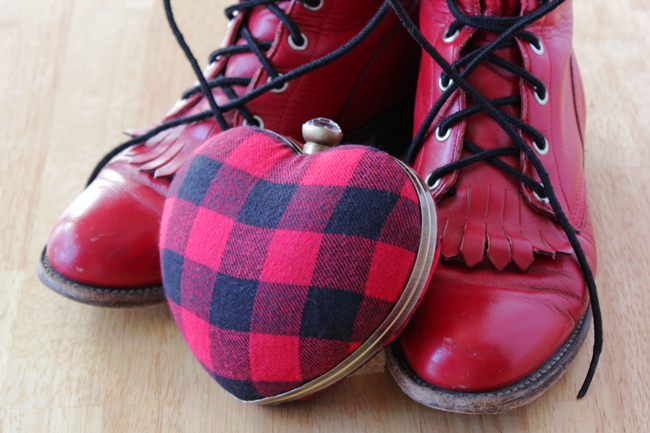 Punk Rock Heart Clutch 183 How To Make A Heart Shaped Bag