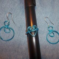 Blue Jewelry Set