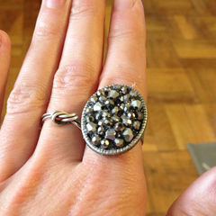Square bead ring diy 1