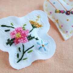 Upcycled Embroidery Brooch