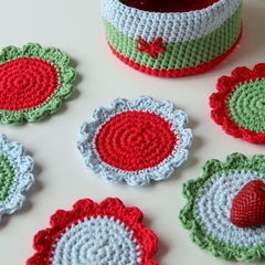 Crochet Coaster Basket
