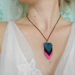 Chevron Heart Necklace