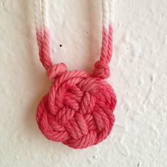 Diy: Dip Dyed Knot Necklace