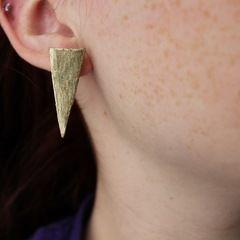 Diy: Metallic Spike Earrings