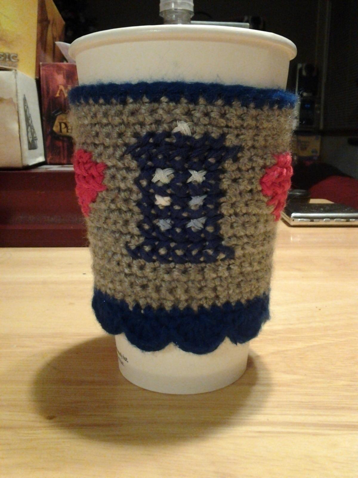 Doctor Who Tardis Coffee Cozy 183 A Mug Warmer 183 Yarncraft