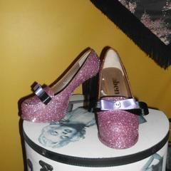 Burlesque Glitter Shoes