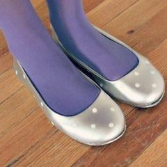 Painted Polka Dot Flats