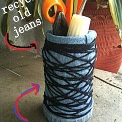 Denim Basket (Up Cycle Old Jeans)