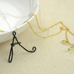 Easy Jewelry Making Ideas  Wire Wrapped Initial Necklaces