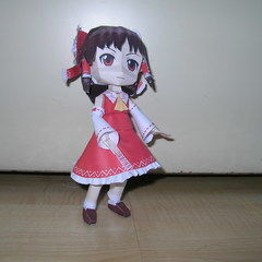 Reimu Touhou Papercraft (Chibi )