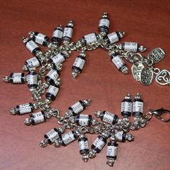 Magazine Paper Beads Bracelet