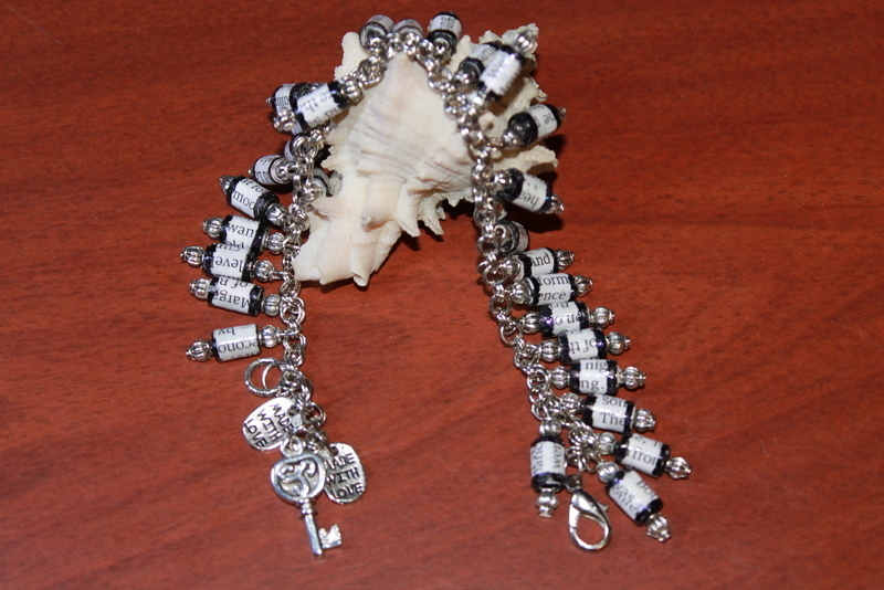 Magazine Paper Beads Bracelet 183 A Paper Bead Bracelet