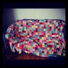 Patchwork Crochet Granny Square Blanket