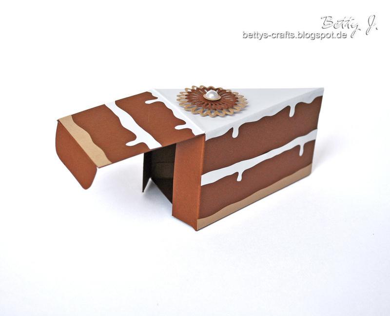 Коробка кусочек торта своими руками