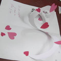 Cute Homemade Valentine Card <3<3<3 Its Full Of Hearts