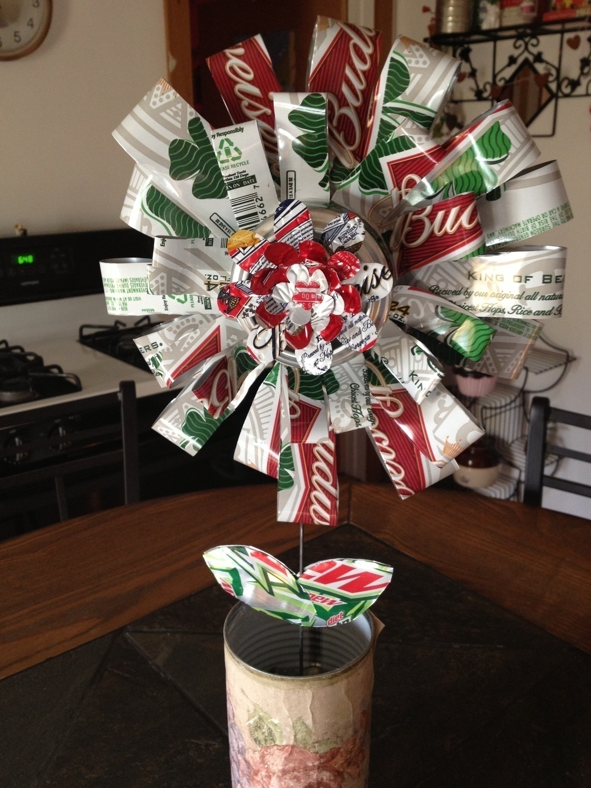 Recycled Beer Can Flower A Bouquet Other on Cut Out Keep
