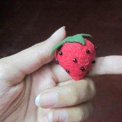 Simple Felt Strawberry