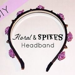 Floral & Spikes Heaband