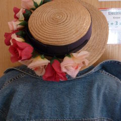 Flower Garland Straw Hat