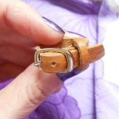 Mini Leather Belt Ring