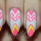 Neon Geometric Nails