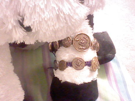 Have tons of mismatch buttons? .  Make a button bracelet in under 20 minutes by jewelrymaking and knotting with buttons and hemp string. Creation posted by hello kitty * kitty chan* .  in the Jewelry section Difficulty: Simple. Cost: Cheap.