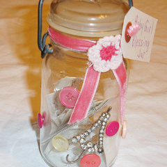 Baby Girl Blessing Jar