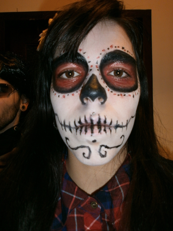 Mexican Skull Face u00b7 A Face Painting u00b7 Beauty on Cut Out + Keep
