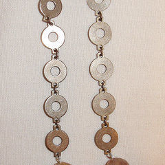 Tiny Brass Washer Dangle Earrings