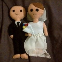 Bride And Groom Plushies