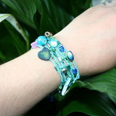 Crocheted Beaded Wrap Bracelet