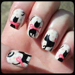 Cat Blouse Nail Art