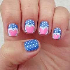 Lacy Hearts Nail Art Tutorial