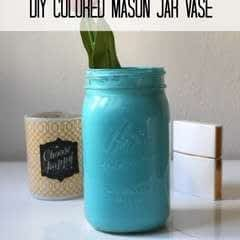 Colored Mason Jar Vase