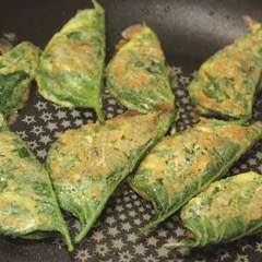 Perilla Leaf Pancakes (Kkaennip Jeon)