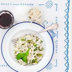 Summer Risotto With Asparagus And Basil