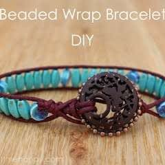 Beaded Wrap Bracelet Using Blueberry Cove Beads
