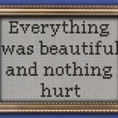 Kurt Vonnegut   Slaughterhouse Five Quote Cross Stitch