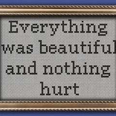 Kurt Vonnegut Slaughterhouse Five Quote Cross Stitch