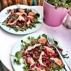 Salmon & Beetroot Quinoa Salad