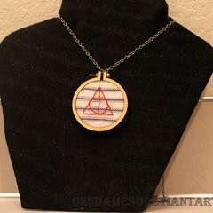 Dandelyne Tiny Hoop Deathly Hallows Necklace