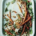 Honey Roasted Carrots & Seeds With Citrus Cream