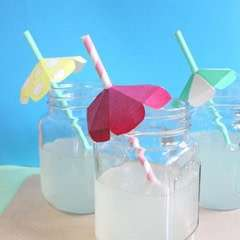 DIY Straw Umbrellas!