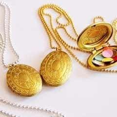 Diy Confetti Medaillon Lockets
