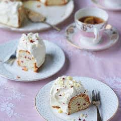 White Chocolate And Raspberry Angel Cake