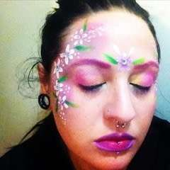 Simple Flower Face Paint