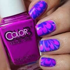 Blue And Purple Watermarble