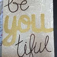 Motivational Glitter Canvas