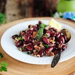 Bean And Pecan Salad